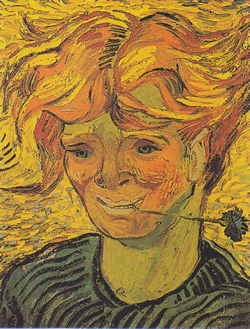 Young Man With Cornflower Vincent van Gogh 1890.