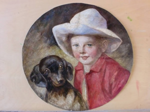 """Конзервација и рестаурацијa слике """"Портрет дечака са псом"""""""