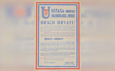 Plakat Ustaša-hrvatski oslobodilački pokret